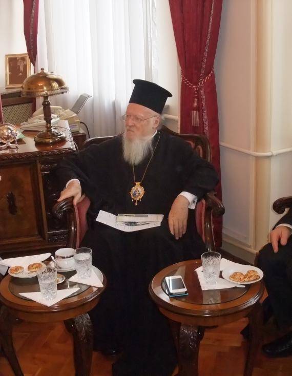 Im Gespräch mit Patriarch Bartholomäus I