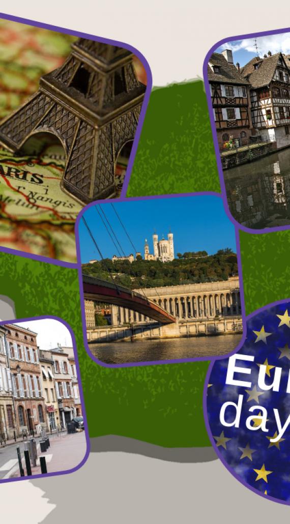 Städte Frankreichs begehen den Europatag