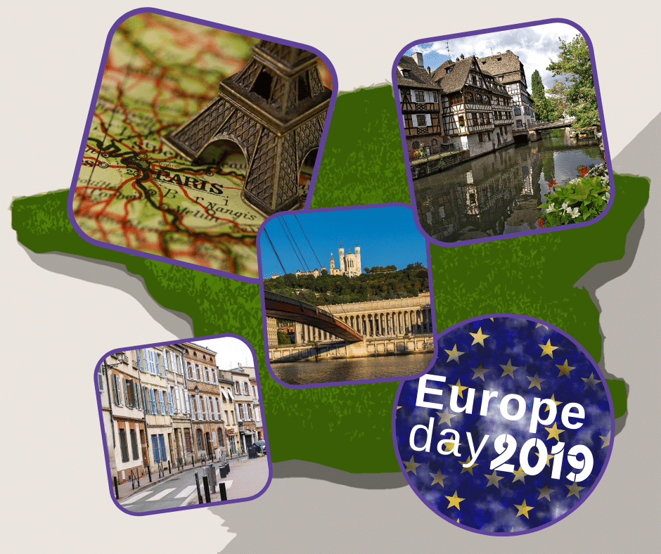 French cities celebrating the Europe Day