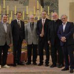 (v.l.n.r.) Branislav Skripek MEP, Slowakei; Alojz Peterle MEP, Slowenien; Ortwin Schweitzer, Stuttgart; Günter Refle, Dresden; Kardinal Dr. Reinhard Marx, München; Jeff Fountain, Niederlande