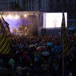 """Konzert der Holy Spirit Night auf dem Stachus anlässlich der Kundgebung von """"Miteinander für Europa (c) HSN2016 Stefan Eber"""